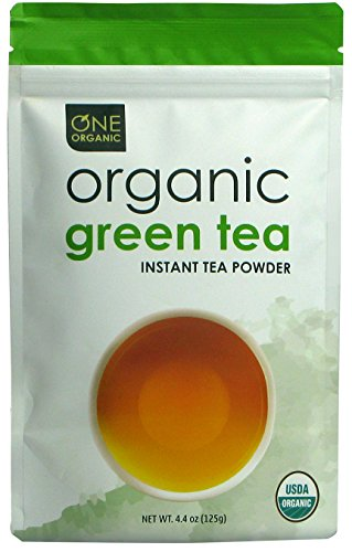 ONE ORGANIC Instant Tea Powder (Green) – 4.4 oz. – 125 Servings – USDA Certified Organic – 100% Pure Tea - Instant Hot or Iced Tea – Unsweetened – No Fillers or Preservatives