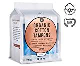 L. Organic Cotton Tampons with BPA-Free Applicators, Super Absorbency, 64 Count
