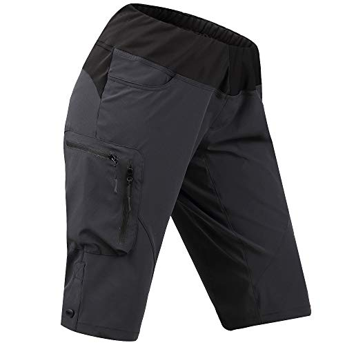 Cycorld Women's-Mountain-Bike-MTB-Shorts (Darkgray, S(Waist:27