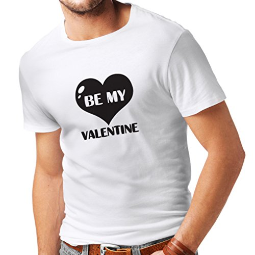 T Shirts For Men Be My Valentine, Quotes About Love Great Gift (XXX-Large White Black)