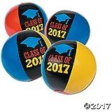 Class of 2017 Graduation Beach Balls - 12 ct