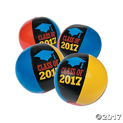 Price comparison product image Class of 2017 Graduation Beach Balls - 12 ct