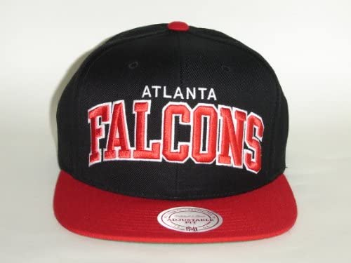 buy popular 7d401 b5c6f Amazon.com   Mitchell and Ness NFL Atlanta Falcons Arch Black 2Tone Snapback  Cap   Sports   Outdoors