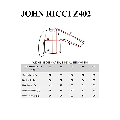 Ricci Multipurpose Chaqueta John Hombre Bolsillos Negro Z402 BOLF XSEwq5