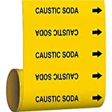 Brady Pipe Marker Caustic Soda Yellow