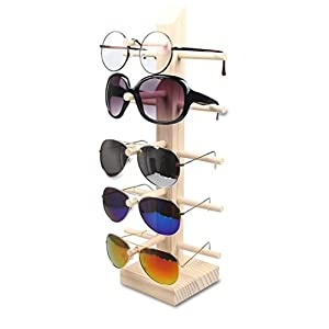 Wooden Sunglass Eyeglass Frame Rack Display Counter Stand Holder Organizer 3/4/5/ Layer (5 Layer)