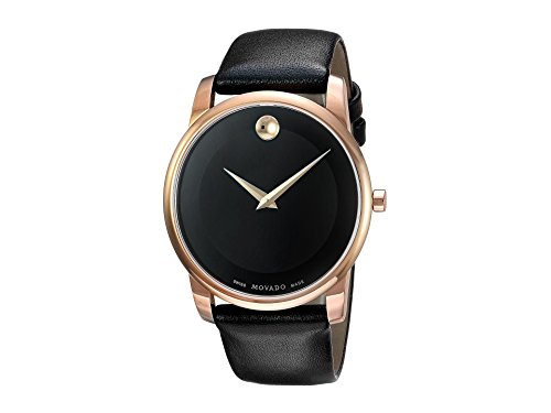 Movado Men's Classic Museum - 0607078 Rose Gold One Size - Movado Gold Tone Wrist Watch