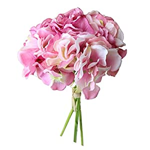 Vacally Artificial Silk Fake Flowers Peony Floral Wedding Bouquet Bridal Hydrangea Decor Fake Flowers 99