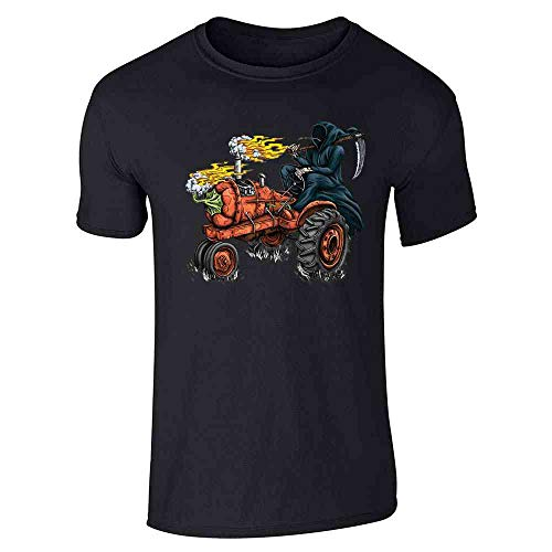Habanero Scoville Units - Funny Grim Reaper Shirt Hot Pepper Tractor Black L Short Sleeve T-Shirt