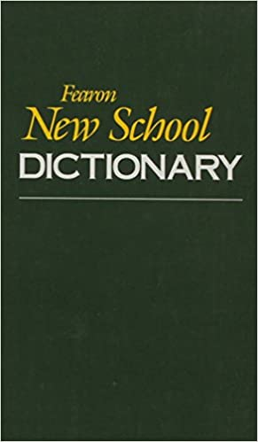 Fearon New School Dictionary 1987c
