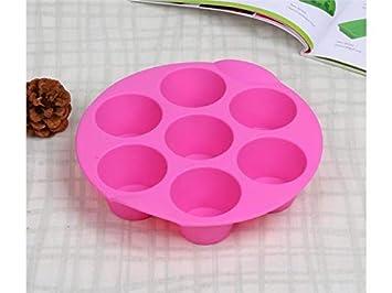 Cocina Cavidad Cupcake de Silicona Cake Muffin Budín de Chocolate Bandeja de Horno DIY Pan Molde para Hornear (Color : Pink, tamaño : 21.2x4.8x4cm): ...