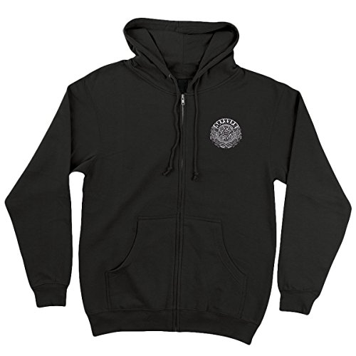 Santa Cruz Mens Dressen Black Roses Hoody Zip Sweatshirts X-Large Black (Santa Hoodie)