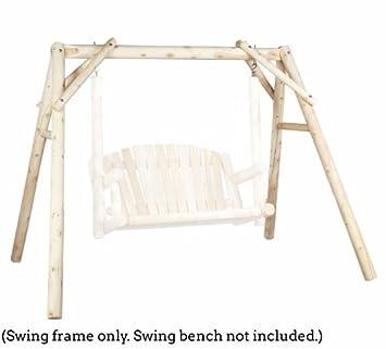 outdoor swing frame only 5 ft cedar - Wooden Swing Frame