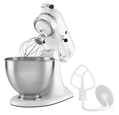 KitchenAid K45SSWH K45SS Classic 275-Watt 4-1/2-Quart Stand Mixer, White - smallkitchenideas.us