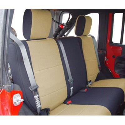 Neoprene, Black//Tan Coverking Custom Fit Seat Cover for Jeep Wrangler JK 4-Door