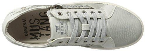 Mustang Top Women's Sneakers Low 301 Silber Silver 1246 SwASCqv