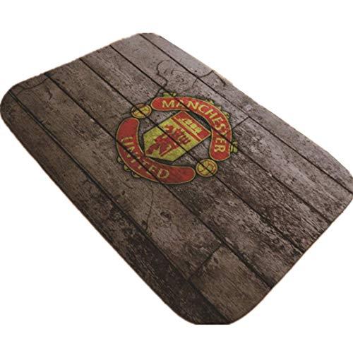 Mat Barcelona Chelsea Manchester United Club Logo Rugs Flannel Digital Printing Non-Slip Waterproof pad Carpet,05,19.731.5in