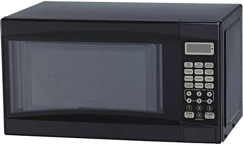 0.7-Cubic Foot Black Touch Pad Control Convenience Cooking Controls Child Lock Cooking Complete Reminder Microwave Oven