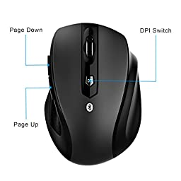 JETech M0884 Bluetooth Wireless Mouse for PC, Mac, and Android OS Tablet
