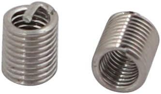 uxcell 10 Pcs M2x0.4mmx6mm Stainless Steel Cal Thread Insert