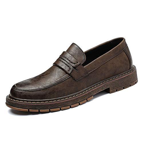 Xujw-shoes, 2018 Scarpe Stringate Basse Suola classica morbida da uomo con scarpe formali a pedale unico per camminare, vivere in casa e compagnia (Color : Marrone, Dimensione : 41 EU) Marrone