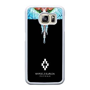 Custom made Case,Marcelo Burlon Feather Cell Phone Case for Samsung Galaxy S6 Edge, White Case With Touchscreen Stylus Pen Free S-7299918