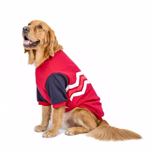 Sumen Spring Warm Hooded For Large Dog 100% Cotton Pet Clothes Short Sleeve Sweater (XXXL, -
