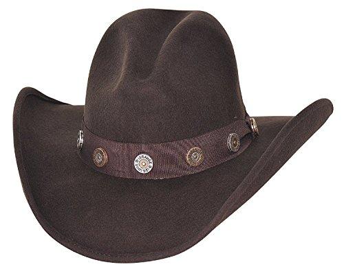 Bullhide Felt Gus Hat with Shotgun Concho Hatband 0767 (Gus Felt Hat)