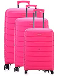 Titan Limit 3 Piece Polypropylene Unbreakable Spinner Luggage Set 30, 27, 21