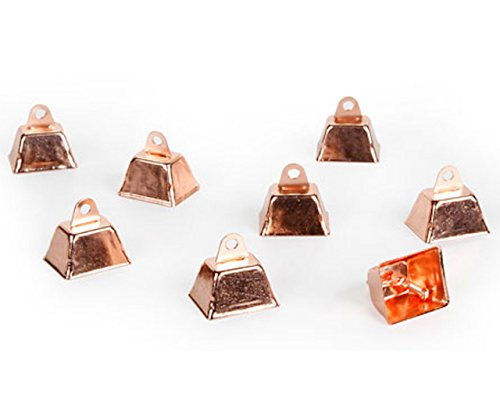 60 New Copper Cowbells Craft Christmas School Projects Gold Glitter Jingle Bell