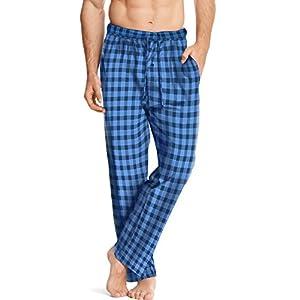 Hanes ComfortSoft Men`s Cotton Printed Lounge Pants - Blue/Navy, 01000, X-Large