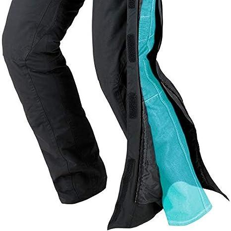 JET Pantalones de moto motocicleta textiles impermeable con armadura Zipper M , Negro 48 Regular//Cintura 32 Longitud 32