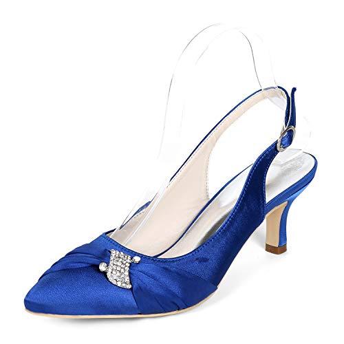 Scarpe L Da 42 Tacco Taglia Di Fiore Blue Pizzo Donna Medio Fibbia Alto Piattaforma Sposa Avorio 35 yc abito r4fEqtxwr