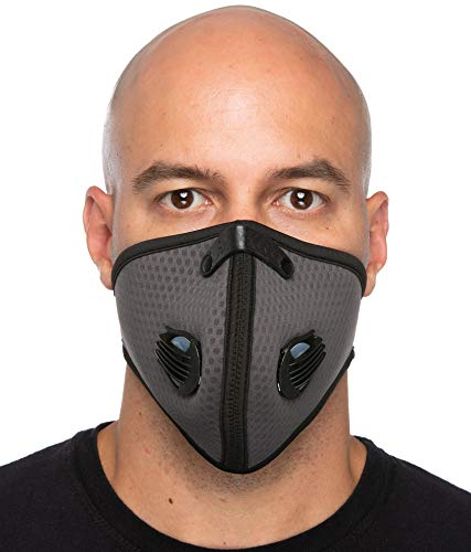 - Debrief Me (1 Mask + 4 Premium Filters + 2 Extra Valves) Carbon Activated Anti Dust Face Mouth Cover Mask Respirator-Dustproof Anti-bacterial Washable -Air Pollution Reusable Comfy (Mesh Grey)
