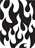 Darice 1218-07 Embossing Folder, 4.25 by 5.75-Inch, Flames Background Design