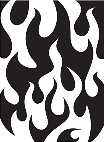 Darice 1218-07 Embossing Folder, 4.25 by 5.75-Inch, Flames Background Design by Darice