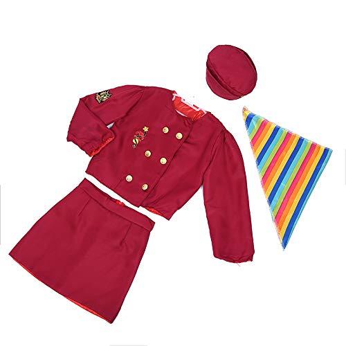 TOPTIE Pilot & Flight Attendant Role Play Costume Stewardess Dress Up Set for Kids-Flight Attendant-S