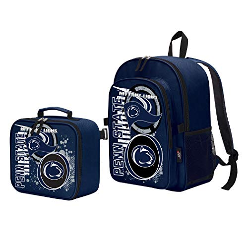 Box Lions Lunch (The Northwest Company Officially Licensed NCAA Penn State Nittany Lions Accelerator Backpack & Lunch Kit Set, Blue, 16