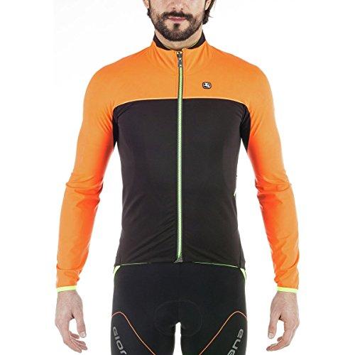 Giordana 2017/18 Men's Aqua Vento 200 Cycling Jacket - GICW16-JCKT-A200 (Orange/Black - S)