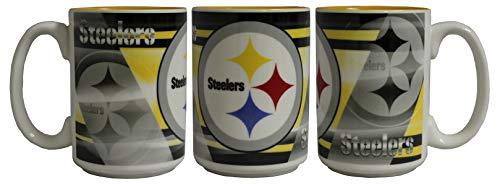 (Memory Company NFL Pittsburgh Steelers 15oz Shadow Mug)