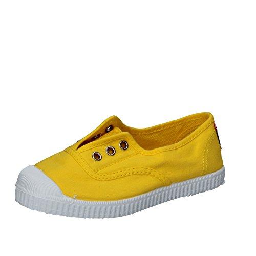 Cienta 70777 21/27 color beige unisex zapatos de la tela elástica Amarillo