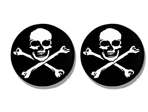 Sticker Hot Helmet Leathers (Hot Leathers, 2 x PIC SKULL & BONES - Small, Bikers Motorcycle Helmet, Sticker DECAL (Pair) - 3