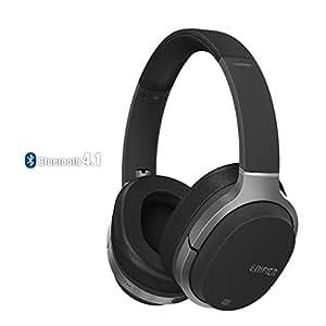 Edifier W830BT Wireless Over-ear Headphones With Built-in Mic (Black)