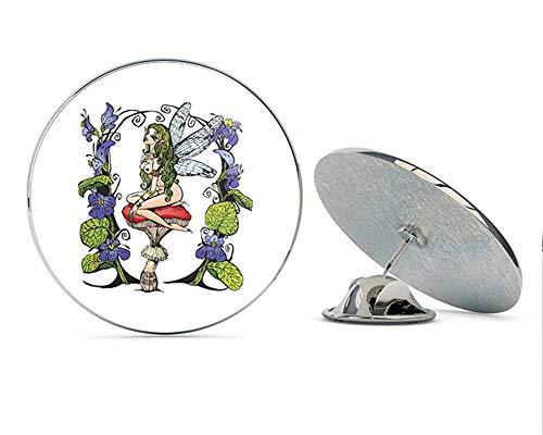 BRK Studio Sexy Topless Naked Flower Garden Fairy Cartoon Round Metal 0.75