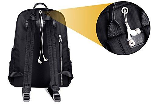 Versión coreana de la bolsa de hombro de las mujeres de nylon, mochila de lona luz, bolso de tela de Oxford, bolso de mamá simple ( Color : Negro , Tamaño : 26*13*32cm ) Purple