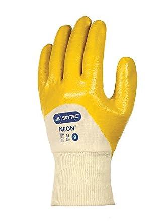 amarillo//crema paquete de 2 tama/ño: L Skytec guantes sky24-l ne/ón guantes