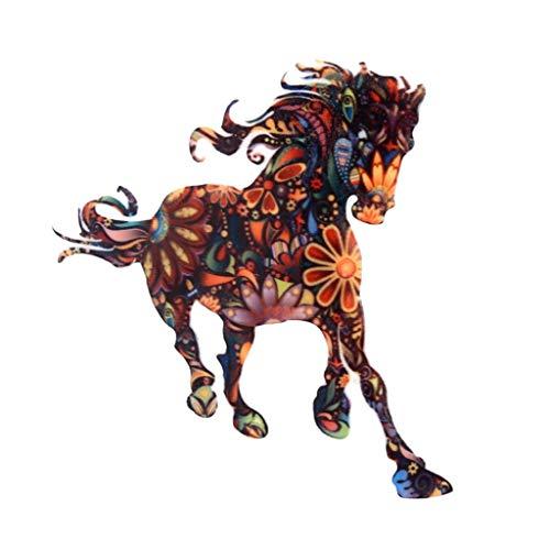 ❤️Jonerytime❤️New Pattern Fashion Cute Personality Running Horse Animal Pattern Brooch Jewelry Black (Black Lantern Ring Light Up)