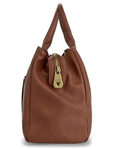 Guess bolso marrón satchel Frankee Marrón