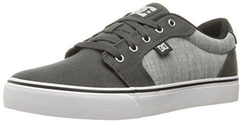 DC Men's Anvil Tx Se Skateboarding Shoe, Charcoal Grey, 10.5 D US