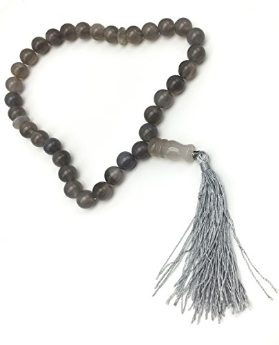 Sibha for Zikr (Al-Thekr) and Al-Istighfar Muslim Counting beads (Gray (Best Around The World Costume Ideas)